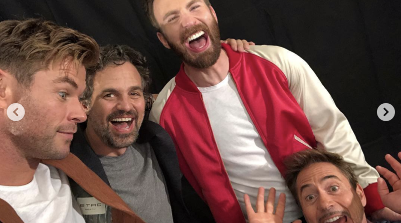 A crazy photoshoot of Iron Man, Captain America, Thor and Hulk in the same frame