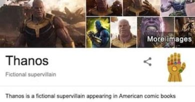 "Search ""Thanos"" on Google and he will snap away your search results!!!"