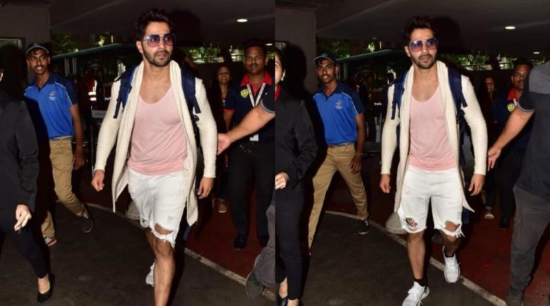 After celebrating his birthday in Thailand Varun Dhawan returns in Mumbai